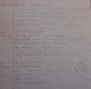 old goal list