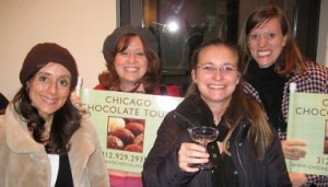 Chocolate and Champagne Tourguides at Chicago Chocolate Tours