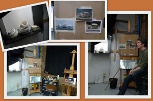 Painting process demonstration at Vitruvian Art School