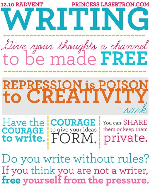 Radvent Writing by Princess Lasertron