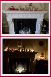 Maike's Marvels' holiday fire place