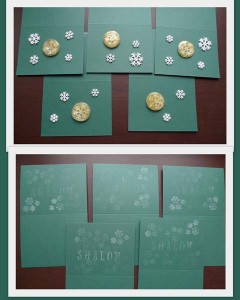 shalom snowflakes holiday cards by Maike's Marvels