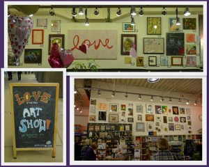 love show at Dick Blick Evanston