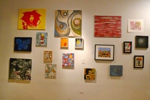 main wall at Black Cloud's Art Bazaar