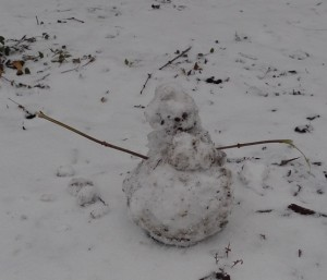 Pig-Pen the snowman