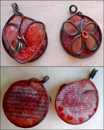 Song of Solomon wax and wire pendants by Maike's Marvels