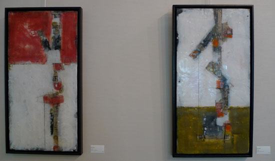 Brad Hook encaustic collages