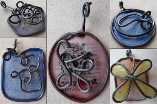 Princess Scientist pendants by Maike's Marvels