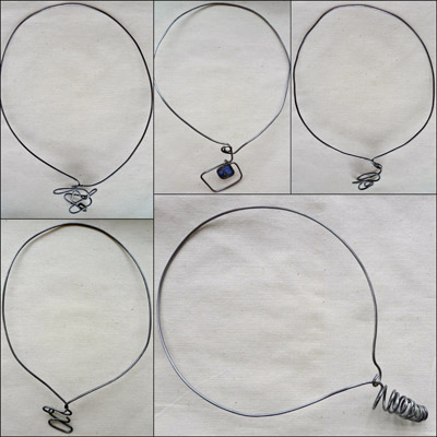 wire necklaces by Maike's Marvels
