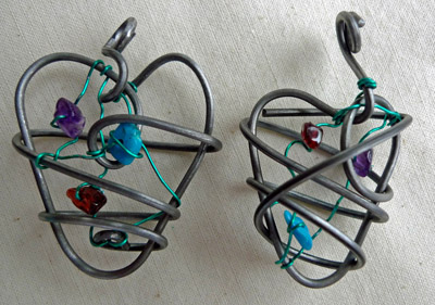 Birthstones mother daughter pair by Maike's Marvels