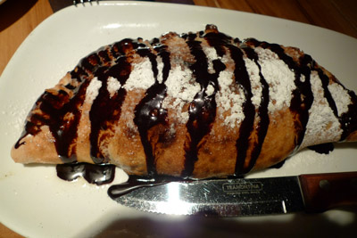 Nutella & Berries Calzone by Flour + Wine - photo by Maike's Marvels