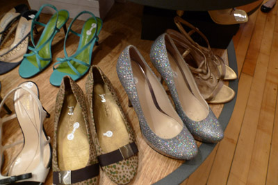 disco shoes at the Swap Shop-photo by Maike's Marvels