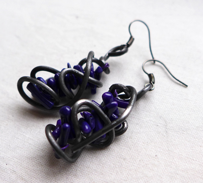 purplecoralearrings