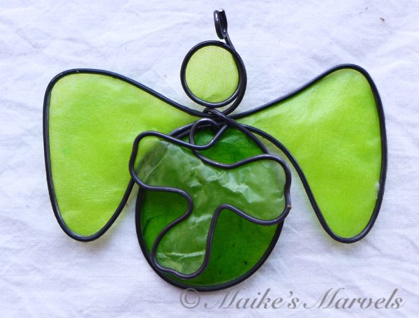 Shamrock Angel Ornament by Maike's Marvels