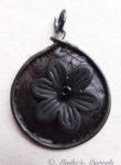 Black Flower Pendant by Maike's Marvels
