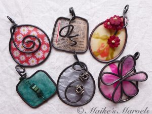 Spring Pendant Collection by Maike's Marvels