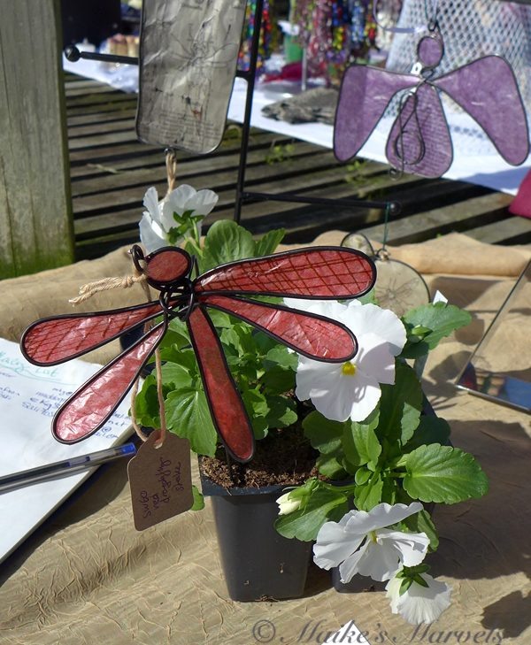 Maike's Marvels Dragonfly Plant Stake