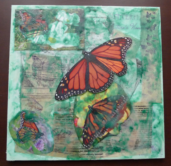 Migrant Danaus by Maike's Marvels encaustic on flat panel