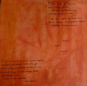 handwritten poems on acrylic paint by Maike's Marvels