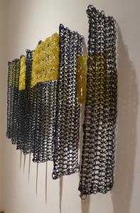 Blue poles … 2133475 from pi by Yvette Kaiser Smith, crocheted fiberglass, polyester resin
