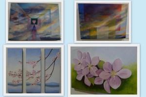 paintings by Laura Cerf-Dahl and Deepa Ajmire