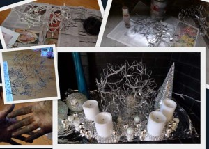 Christmas wire ball project by Maike's Marvels