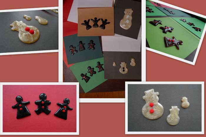 Gingerbread and Snowman cards by Maike's Marvels