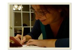 MarvyMaike writing holiday cards