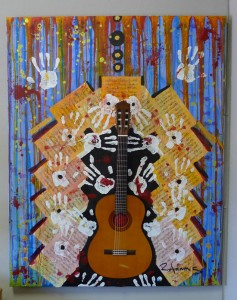 guitar painting by Reginald Adams