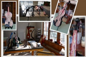 transformed violins by MOCAH