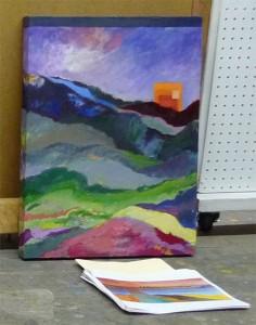 Shane Zimmer oil painting