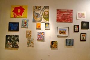 main wall at Black Cloud's Art Bazaar