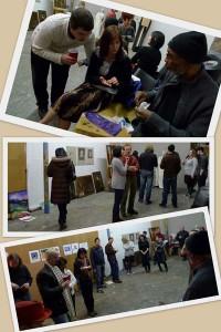 mingling at Art Share