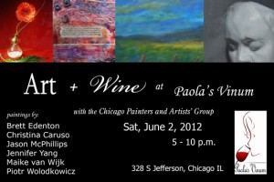 Pop-up Gallery June 2, 2012 in Chicago