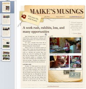 photo and newsletter copyright Maike's Marvels