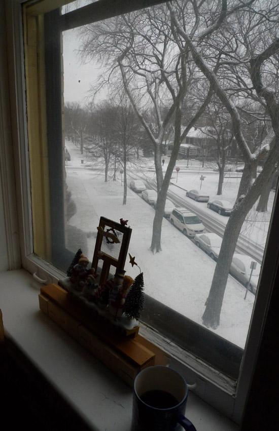 Christmas morning view