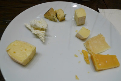 cheeses at the Wine and Cheese Pairing