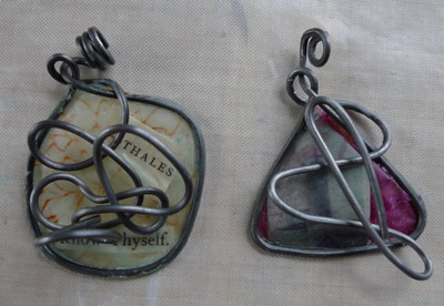 Know Thyself and Beacon Triangle pendants by Maike's Marvels