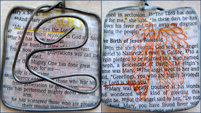 Mary's Song wax and wire pendant by Maike's Marvels