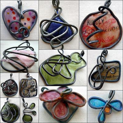Wax and Wire Maike's Maraviglia pendants