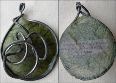 Psalms 103:15 wax and wire pendant by Maike's Marvels