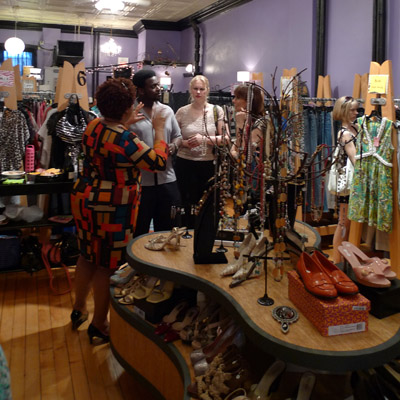 NEW networking at the Swap Shop - photo by Maike's Marvels