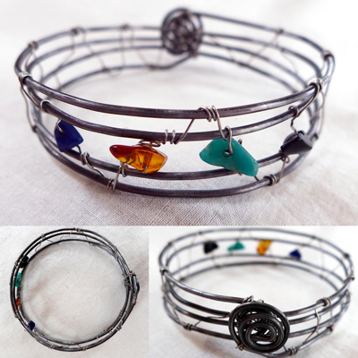 AuroraRoseBirthstoneBangle