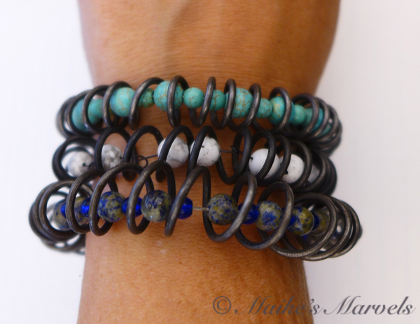 Spiral Beaded Bracelets by Maike's Marvels